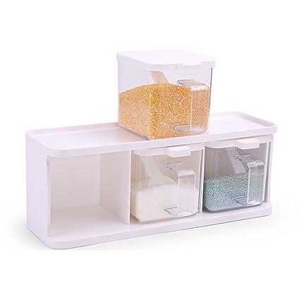 S-N-H Transparente de plástico de condimentos tanque de condimentos caja de salsa botella caja de almacenamiento