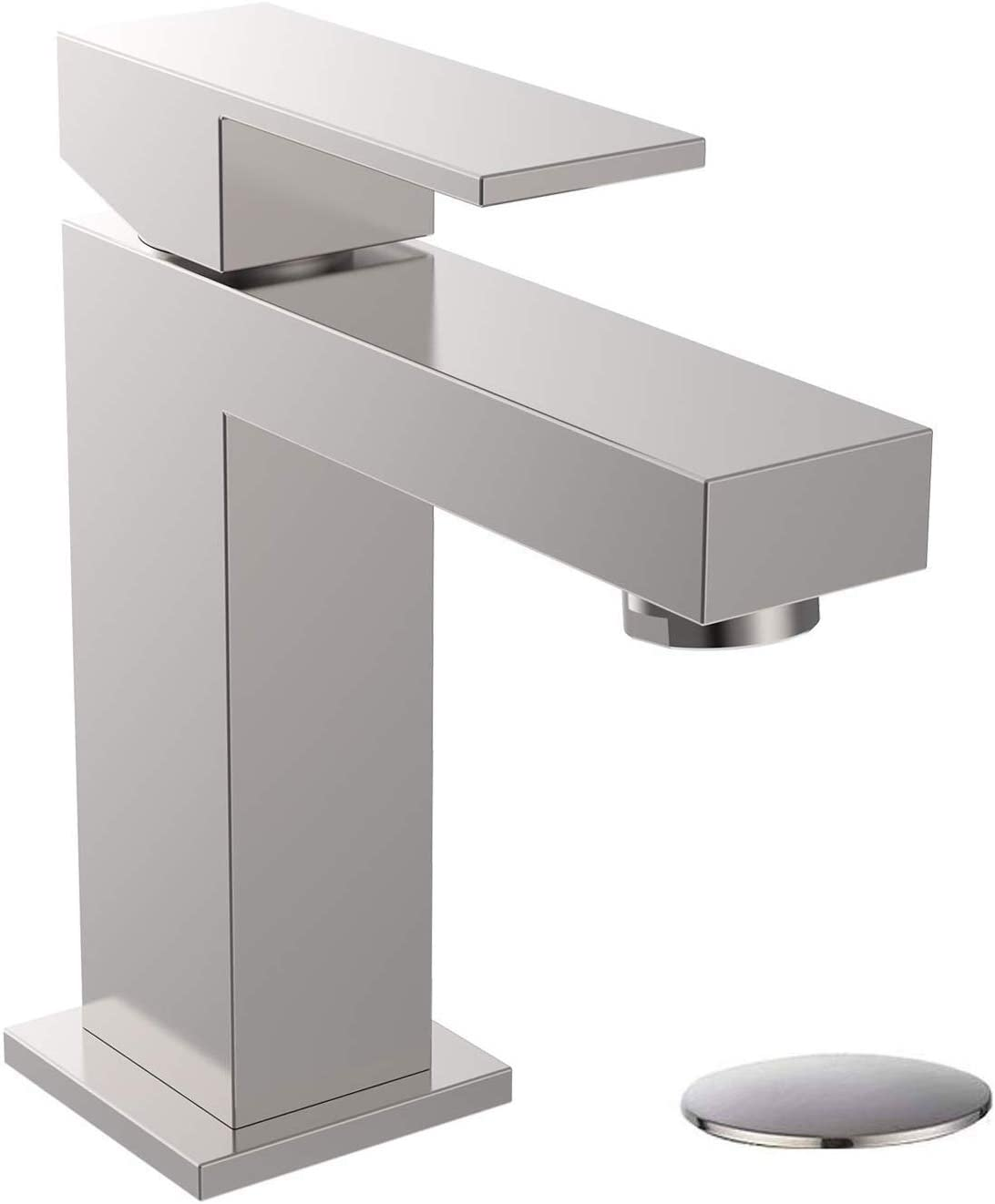 Alwen Bathroom Faucet Brushed Nickel Bathroom Faucets For Sink 1 Hole Single Faucet With Pop Up Drain Leadfree Touch On Bathroom Sink Faucet