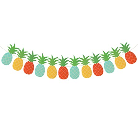Toyvian Banner de piña Fiesta de verano Pancartas para ...