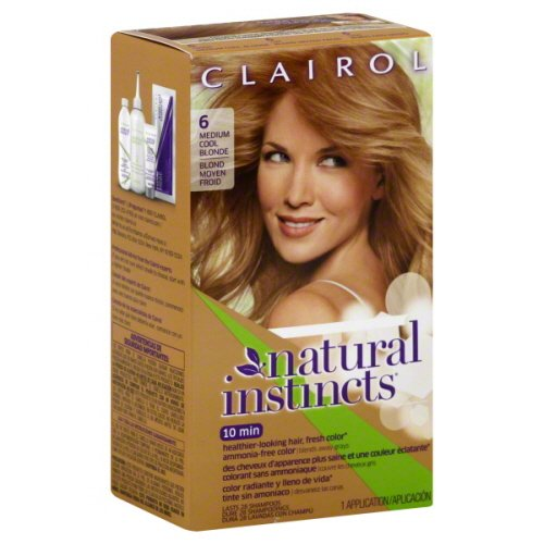 Clairol Natural Instincts, 6/13 Suede Light Brown, Semi-Permanent Hair Color, 1 Kit