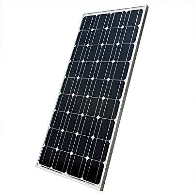 ECO LLC 200W 12V Mono Solar Panel for off Grid Solar System Kit for Outdoor Camp