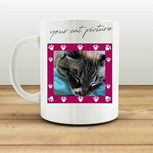 Coffee Mug Cat Lover Cup Your Cat Picture Here Funny Gift
