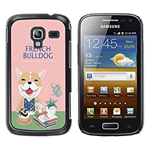 Dragon Case - FOR Samsung Galaxy Ace 2 - french bulldog - Caja protectora de pl??stico duro de la cubierta Dise?¡Ào Slim Fit