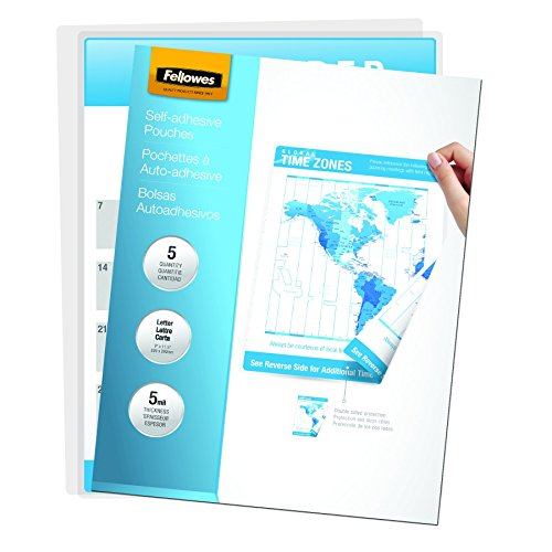 Fellowes Laminating Sheets, Self Adhesive, Letter Size, 5 Mi