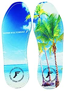 Footprint Insole Technology High Profile Kingfoam Insoles Beach Graphic, 7/7.5
