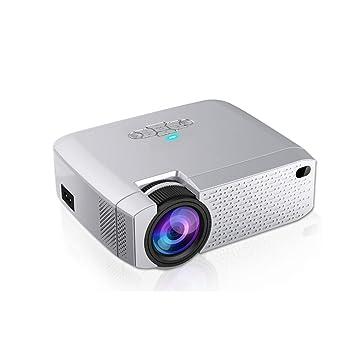 HUBI Mini proyector de vídeo portátil, LED Mini Videoproyector ...