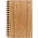 "Woodchuck - Classic Spiral Journal (6.5"" x 4.5"") - 88 Pages - Made in the USA - Mahogany Wood - Blank Certified Recycled Paper - Unique Grain for Every Journal"