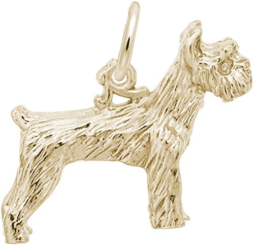 Rembrandt Charms Yellow Gold Schnauzer Dog Charm