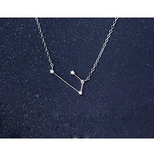 Helen de Lete 12 Constellation Sterling Silver Choker Necklace
