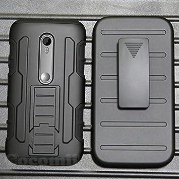 Cocomii Robot Armor Motorola Moto G3 Funda [Robusto] Superior Funda Clip para Cinturón Soporte Antichoque Caja [Militar Defensor] Cuerpo Completo ...