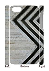 Black and white phone case for iphone4,4s,Stripe Case for iphone4,4s with WOQA304913.