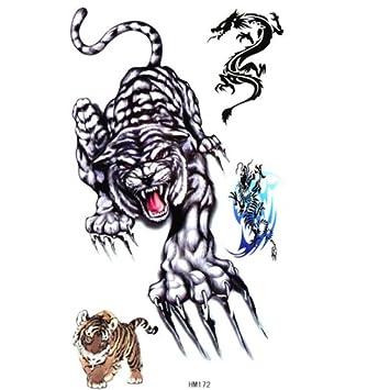 Tiger de tatuaje temporal etiqueta masculinos y femeninos Mode ...