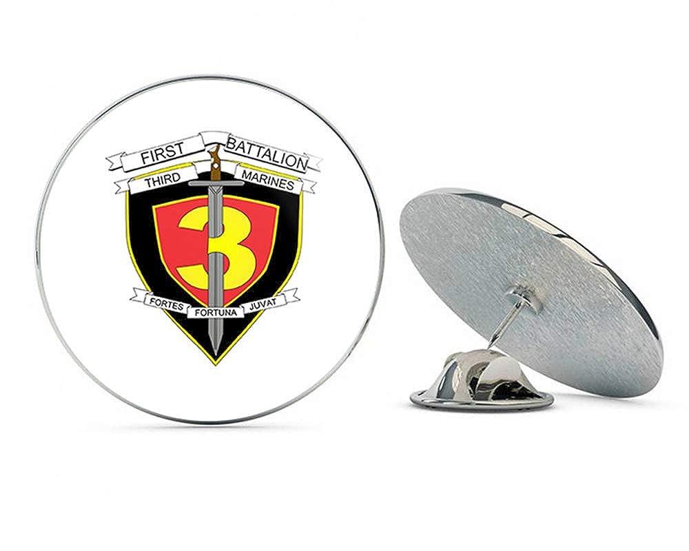 TG Graphics 1st Battalion 3rd Marines Steel Metal 0.75 Lapel Hat Shirt Pin Tie Tack Pinback