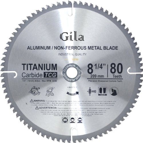 GilaTools 8-1/4-Inch 80 Teeth TCG Non-Ferrous Metal Cutting