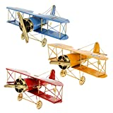 Large 8.5'' Hang Retro Airplane Aircraft Model,Home Decor Ornament Toy,Home Office Desktop Decoration, Retro World War I German Wings Model,ww1 Aircraft Model