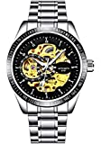 Spyn Automatic Mechanical Analogue Round Multi-Colour Dial Men's Watch_M4S