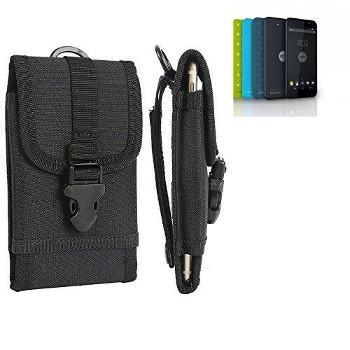 bolsa del cinturón / funda para Shift Shift5.2, negro   caja del teléfono cubierta protectora bolso - K-S-Trade (TM)