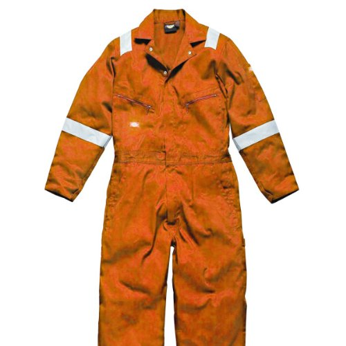 Dickies Mens Hi-Vis Stripe Workwear Coverall (M) (Orange)