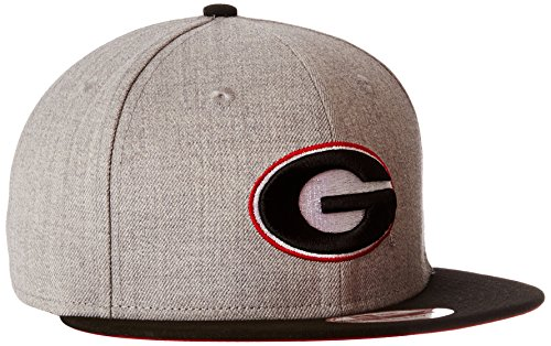 NCAA Georgia Bulldogs Bind Back 9Fifty Snapback Cap, Small/Medium, Gray