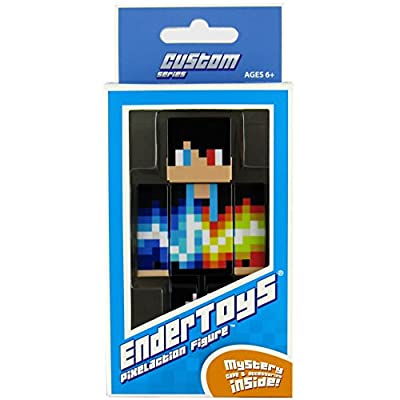 "Fire and Ice Pixelaction Figure by EnderToys - 4"" plastic action figure by Seus Corp Ltd."