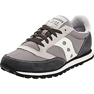 Saucony Originals Men's Jazz Low Pro Classic Retro Sneaker, Grey/White, 8 M US