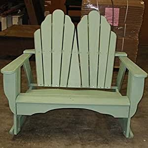 Uwharrie Chair Company Fanback Collection Adirondack Dbl Rocker - Poly - Natural