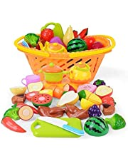 NextX Early Learning Toys,Pretend Play Kitchen Toys For Kids Play Food Cutting Fruits,Educational Learning Toy,Age 3 +