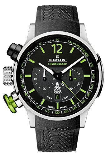 Edox Men's 10303 TIN NV Dakar L.E. Analog Display Swiss Quartz Black Watch