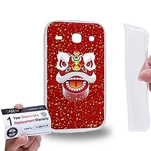 Case88 [Samsung Galaxy Core i8260 / i8262] Gel TPU Carcasa/Funda & Tarjeta de garantía - Art Chinese Southern Lion The Liu Bei Lion