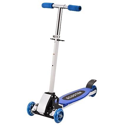 Buysyall ®Mini Scooter Patinetes para Niños Niñas de 2-8 Años con 3 Ruedas Plegado Rápido, Monopatín Infantil con Manillar Altura Ajustable de 57-80cm
