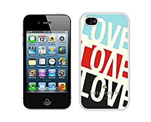 Popular Customize iPhone 4S Phone Case Kate Spade New York Unique Cover Case For iPhone 4 4S 191 White
