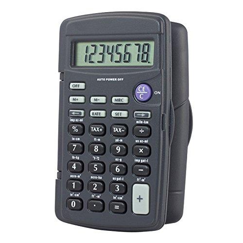 Control Company 1001 Control, Calculator, Portable, 4-1/4 in, 8 Digit,Grade: 1 to 12, 2