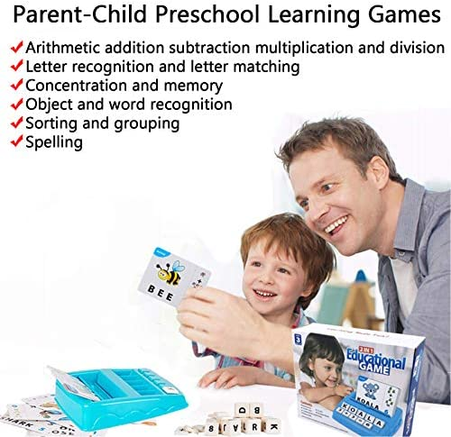 Learning Educational Toys 2 in 1 Matching Letter and Number Games for Boys and Girls Sight Words Recognition Flash Cards Kindergarten Teaching Tools Preschool Learning Materials for Kids Ages 3-7
