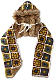 San Diego Hat Company Women's Afghan Scarf, Multi, One Size