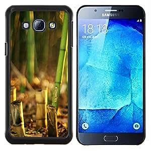 Caucho caso de Shell duro de la cubierta de accesorios de protección BY RAYDREAMMM - Samsung Galaxy A8 A8000 - Puesta de sol de coco Beautiful Nature 119