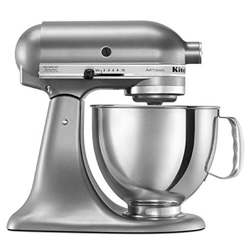 KitchenAid 5 Qt. Artisan Series Stand Mixer Contential Silver RRK150CU (Renewed) by KitchenAid