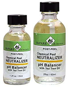 Chemical Post Peel Neutralizer with TEA TREE OIL- Adjusts Skins pH after TCA, Glycolic, Jessners, Salicylic & Lactic Acid Peels
