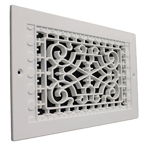 (SMI Ventilation Products VWM614 Cold Air Return - 6 in x 14 in Victorian Style Wall Mount - Outside Dimensions 8 in x 16 in)