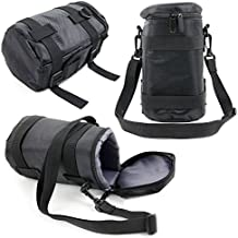 Black Protective Water-Resistant Speaker Carry Bag Compatible with the Panasonic LEICA DG Lens H-ES200 - by DURAGADGET