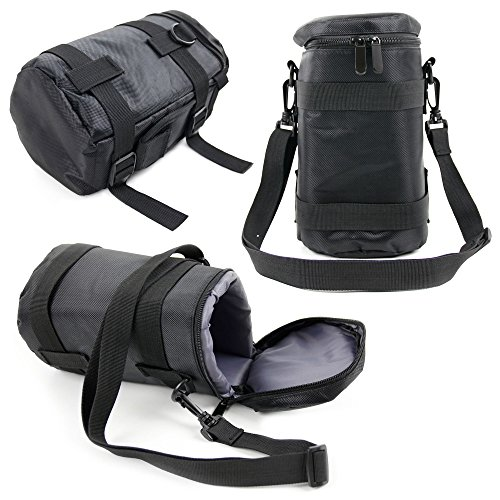 DURAGADGET Black Protective Water-Resistant Speaker Carry Bag - Compatible with The Ecandy EA892