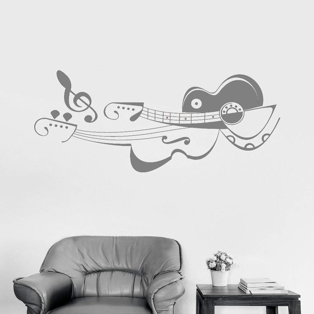 Decoración del hogar Apliques de vinilo Músico Tienda de guitarra ...