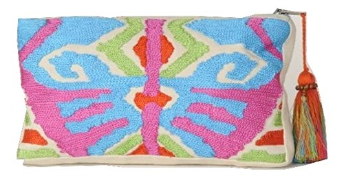 Krickette Women's Embroidered Zip Pouch 8