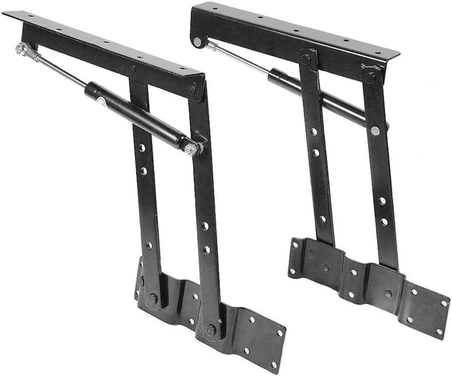 2 Piezas Bisagra Levantar Lift Up Parte Plegable Mesa par Muebles Accesorios Mesa de Café (Negro)