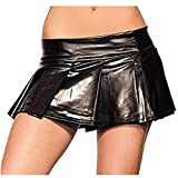 Be Wicked Black Vinyl School Girl Skirt