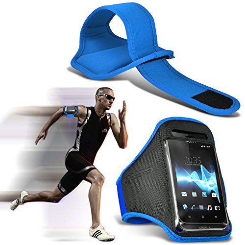 (( Baby Blue ) LG E900 Optimus 7 Sports Running Jogging Ridding Bike Cycling Gym Arm Band Case Pouch Cover By ONX3®)