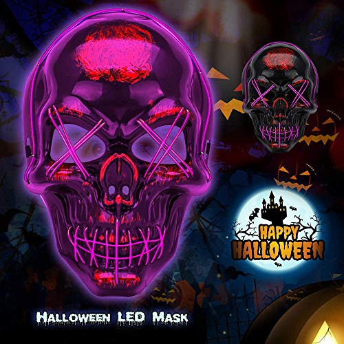 Halloween LED Light Up Glowing Mask for Cosplay, Costume Party Purple - http://coolthings.us
