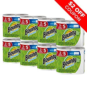 Bounty Quick-Size Paper Towels, White, Family Rolls, 16 Count by Procter & Gamble (P&G-2)