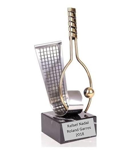 Trofeo Tenis Rafael Nadal Roland Garros 2018 27cm Grabado ...