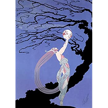 amazon com fireflies big art deco print erte posters prints