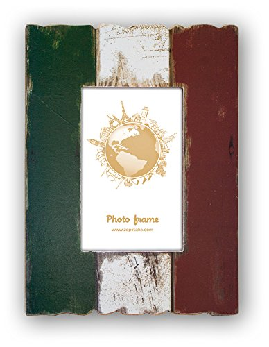 Zep Flag of Italy Wooden 6x4 Photo Frame, Multi-Colour